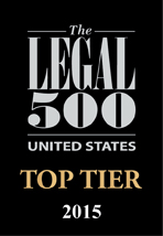 The Legal 500 award badge recognizing Berger Montague as a 2015 Top Tier law firm